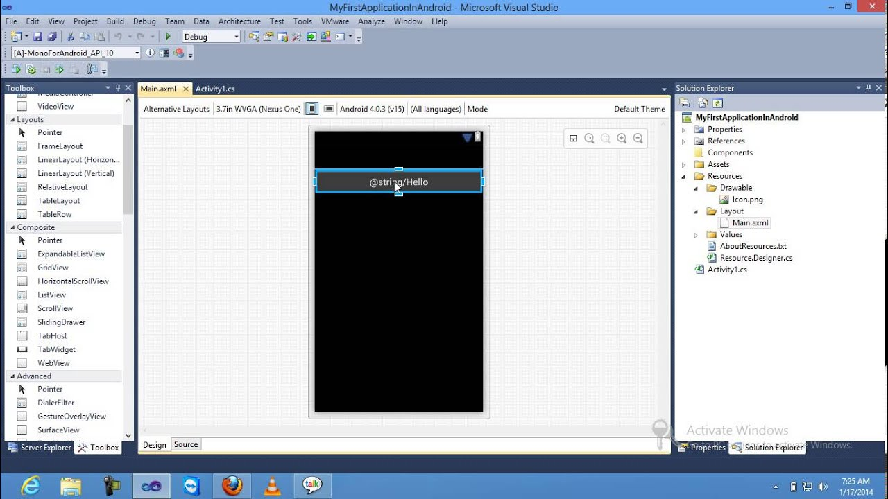 Android and iOS development with C++ in Visual Studio