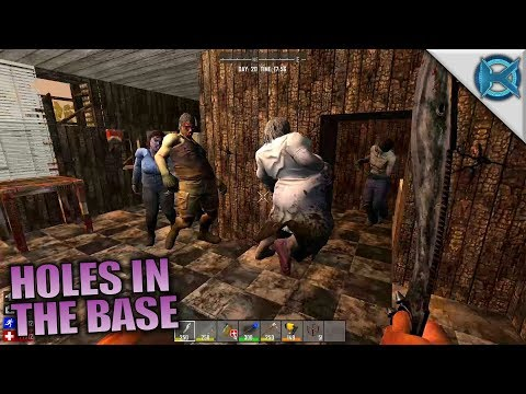 HOLES IN THE BASE | Husband & Wife | 7 Days to Die Let's Pla