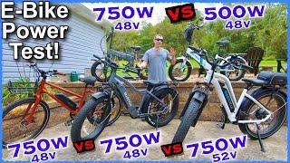 Фото 750W E-Bike Head To Head Showdown~Which Electric Bike Has The Most Power? + Lectric 2.0