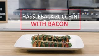 Hassleback Zucchini with Bacon