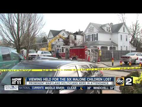 Viewing held for six Malone children lost in deadly fire