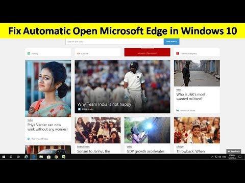 How to Fix Microsoft Edge Automatic Open in Windows 10 Hindi/Urdu