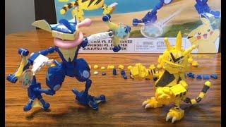 Mega Construx Pokémon Greninja vs Electabuzz set unboxing plus awesome STOP MOTION SPEED BUILDS!
