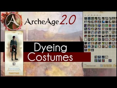 Archeage 2.0 - How to: Dye Your Costumes!