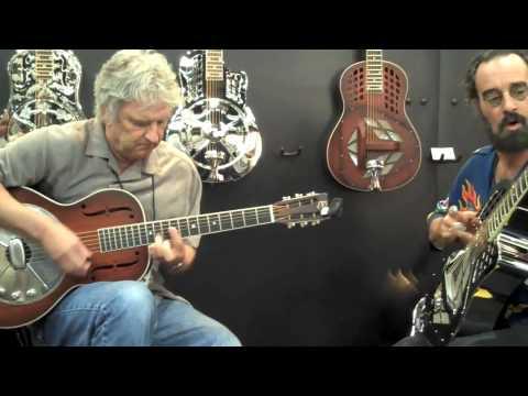 Mike Dowling & Bob Brozman at NAMM 2010