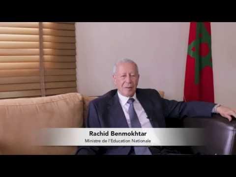 Entretien avec Rachid Benmokhtar, Ministre de l'Education Nationale au Maroc 2016