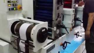 Sanjo Intermittent Rotary letterpress label printing