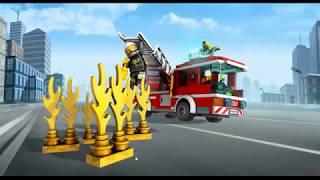 Лего Сити. Мультик про пожарную машину для детей. - Lego city. cartoon fire truck