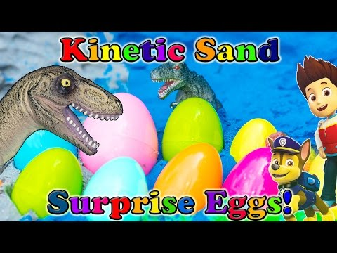 SURPRISE EGGS Nickelodeon Paw Patrol Kinetic Sand Funny Pig Frozen Surprise Eggs Toys Video