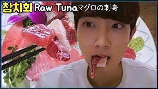 참치 회 야외 먹방 더빙 (feat. Joker 조커) Raw Tuna mukbang eating show ASMR VLOG マグロの刺身
