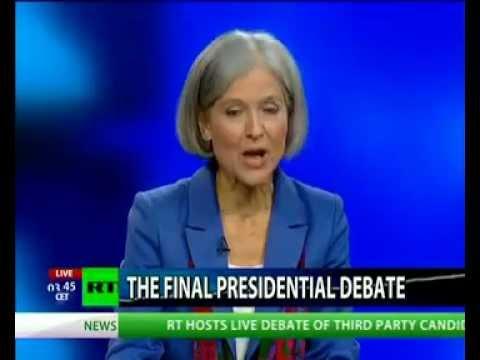 """""""Third-Party presidential debate: Gary Johnson vs Jill Stein"""""""