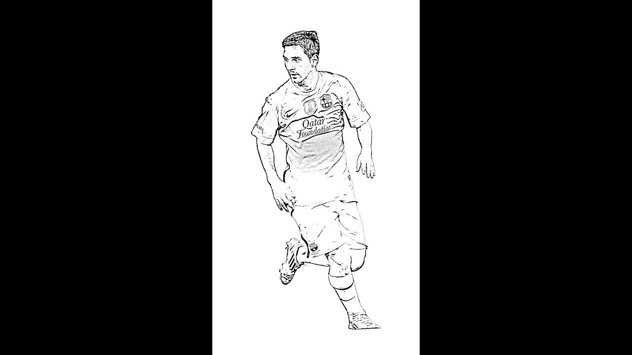 How To Draw Messi Dibujando Messi Youtube