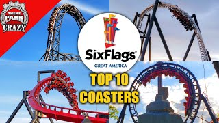 Top 10 BEST Six Flags Great America Roller Coasters