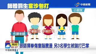 小四生嬉鬧遭老師狠K 男童腦震盪家長怒│中視新聞20181006