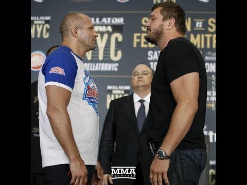 Fedor Emelianenko vs. Matt Mitrione Bellator NYC Staredown - MMA Fighting
