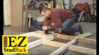 Part 2- Ultimate Storage System Sheetrock Garages- Building The Frame- Ezstudrack.com