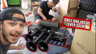 Installing this RARE MASSIVE Train Horn!