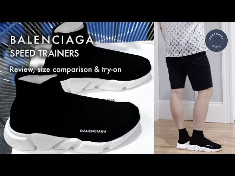 30b7088317d39 Balenciaga Men s Speed Trainers (Sock Knit)  Review
