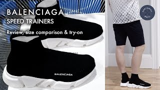 Video Balenciaga Men's Speed Trainers (Sock Knit): Review, size comparison & try-on download MP3, 3GP, MP4, WEBM, AVI, FLV Agustus 2018