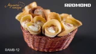 Мультипекарь, сменная панель RAMB-12, вафельные трубочки с кремом, рецепт для мультипекаря