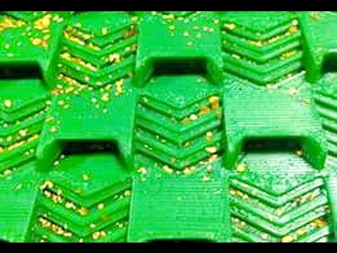 orpaillage plaque de sluice tests numero 6  / gold plates riffles gold-panning