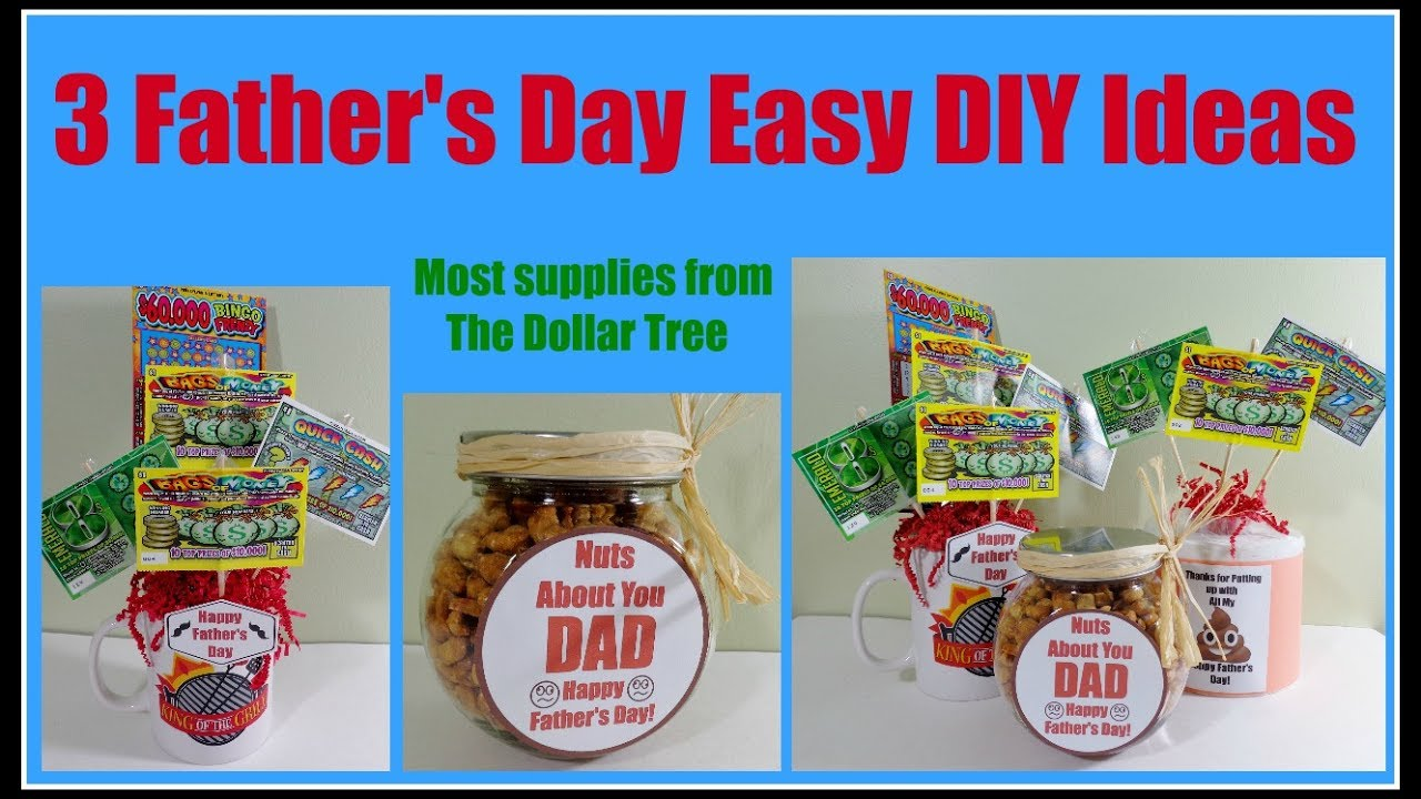 3 DIY Father's Day Ideas 10 Min. Projects. Dollar Tree