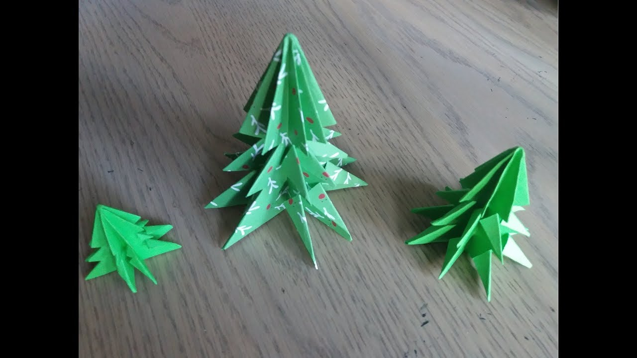 origami facile le sapin de noel christmas tree par alexandre 7 ans youtube. Black Bedroom Furniture Sets. Home Design Ideas