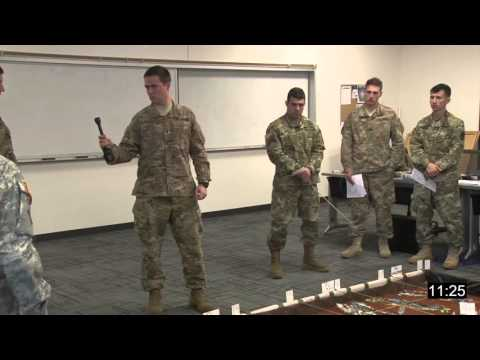 MCCC Students Conduct Company Combined Arms Rehearsal