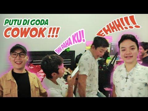PRANK HOMO !!! PUTU DAN NYOK DI GODAIN COWOK !!! LIAT REAKSINYA :D