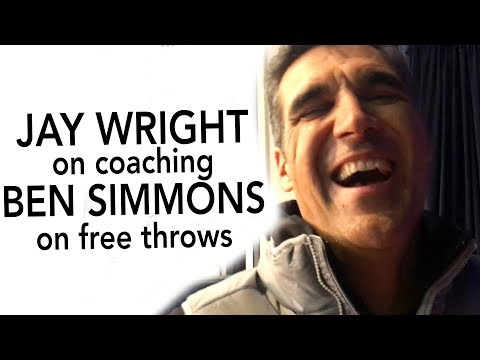 We asked Villanova Coach Jay Wright about helping 76ers' Ben Simmons work on his free throws