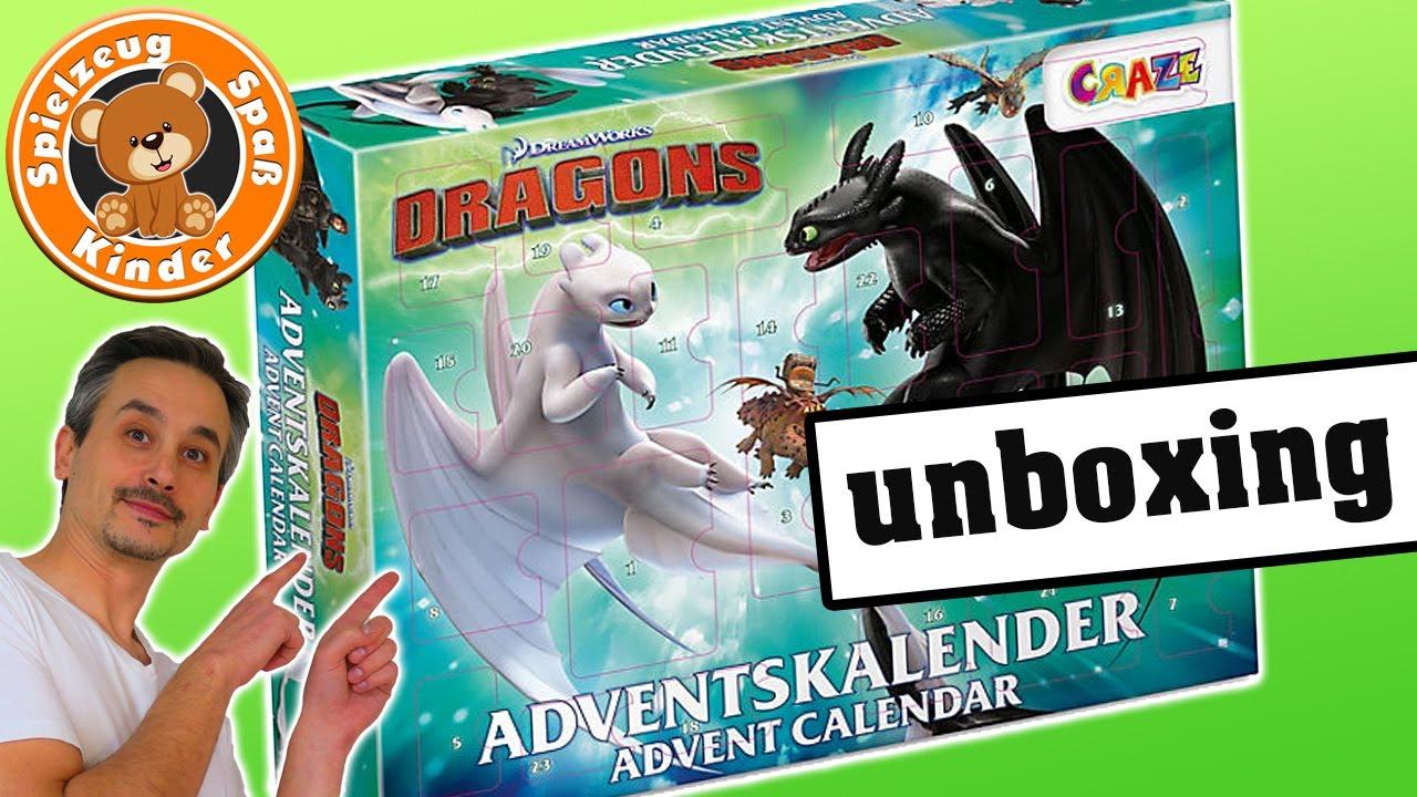 DRACHEN Adventskalender aufmachen 🐲 Dragons OHNEZAHN Figuren Spielzeug