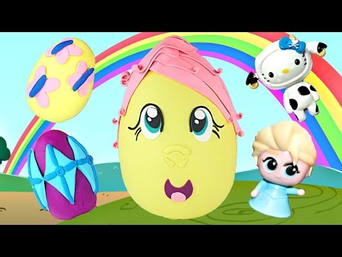 GIANT Play Doh Surprise Egg FLUTTERSHY from My Little Pony
