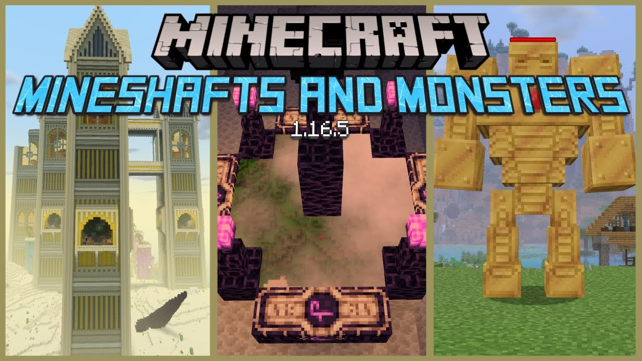 Download Mineshafts and Monsters Minecraft Modpack Review for 1.16.5