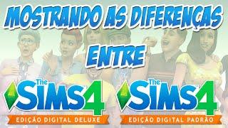 Mostrando as diferenças entre o The Sims 4 Deluxe e Padrão