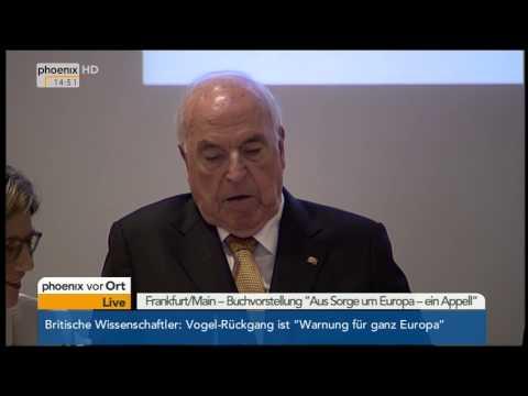 """Buchvorstellung: Ansprache Helmut Kohl - """"Aus Sorge um Europa"""" am 03.11.2014"""