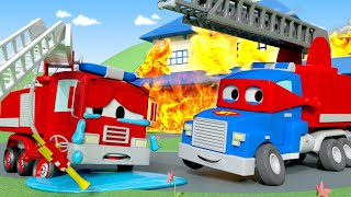 소방차 칼 Firetruck🔥 - 슈퍼 트럭 칼 🚚 ⍟ 어린이를 위한 트럭 만화 l Car City - Korean Animation Cartoons for Kids