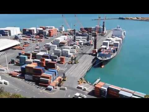 Business at the Port of Napier New Zealand 05 January 2017