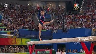 Gymnastics   Shawn Johnson Wins Gold on Balance Beam Beijing 2008