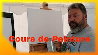 Comment démarrer un tableau à la peinture à l'huile à l'atelier(les tournesols)