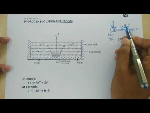 Immersed corrosion I Hydrogen Evolution Mechanism [ENGLISH/HINDI]