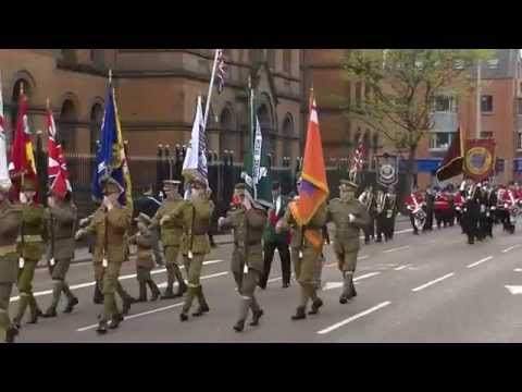 Churchill flute band   at the 36th ulster division parade in Belfast 9-5-15