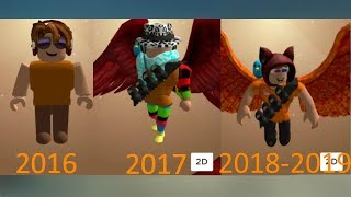 My Roblox Character Evolution - 4 Years of Roblox