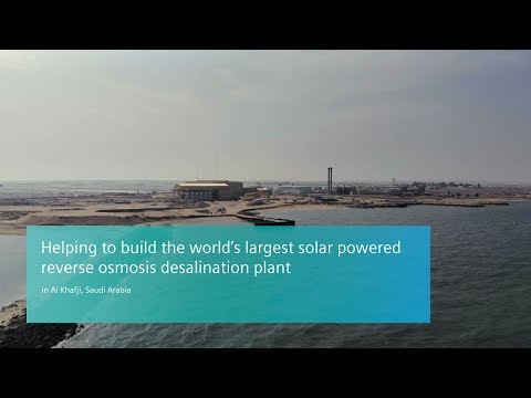 Al Khafji - Saudi Arabia the world's largest solar powered reverse