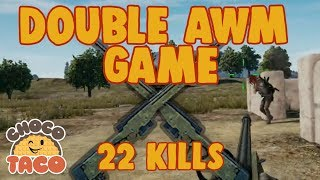 2 AWMS, 22 KILLS - chocoTaco PUBG Game Recap