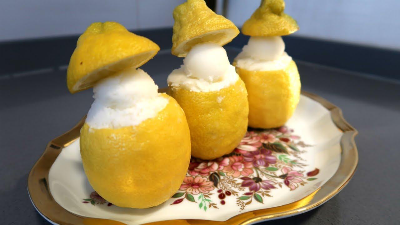 Helado de limon light casero