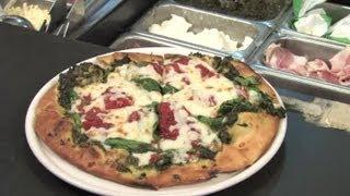 Spinach & Mozzarella Pizza : Healthy & Savory Recipes