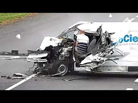 Man miraculously walks away from massive car crash in Ukraine from YouTube · Duration:  54 seconds