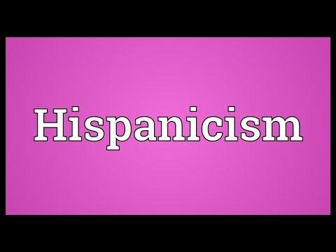 Header of Hispanicism