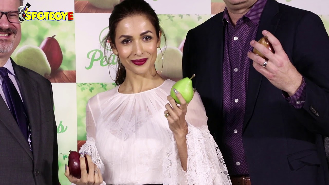 Uncut- Malaika Arora And Pooja Makhija At USA Pears Launch ...