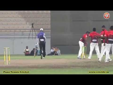 Deekshit of Alliance-Almuzzain battng in HANAN Premier League 2016 QATAR